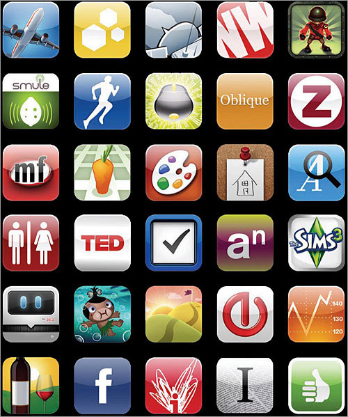 App Store Unveiled: 2008 Perhaps just as important as Apple's innovative iPhone device was its decision to allow developers to create applications -- or 'apps'' -- for the device, and make them available through the App Store. The store, which was accessible through the iTunes Store, allowed users to download certain apps for free, and others for a fee. Apps ranged from video games to stock trackers, and everything in between. There are currently more than 100,000 apps available for the iPhone in the App Store, much more than for any other mobile device.