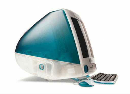 iMac Unveiled: 1998 Apple aimed to rethink the design of desktop computers when it introduced the first iMac, which was the first Apple product to include the prefix 'i.' The computer combined the monitor and hardware components of a computer into a single enclosure, and was marketed for its ease of setup and its round appearance. Newer versions of the iMac are much thinner and feature a flat-screen display with all of the hardware packed in behind it.