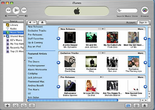 iTunes Unveiled: 2001 iTunes caught on with the digital music revolution that exploded in part because of the free music sharing tool Napster. But when Napster ceased being the free go-to site for music, iTunes slowly took over the pay-for-music realm on the Web when the iTunes store opened in 2003. In addition to integrating with the emerging portable mp3 player market at the time, iTunes provided an easy way to manage, purchase, and burn digital music to CD. iTunes has since expanded to manage video, audio books, and more digital content.