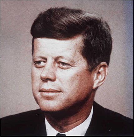 John F. Kennedy became the first Roman Catholic elected president in 1960. In his inaugural address he uttered the famous phrase, 'ask not what your country can do for you, ask what you can do for your country.' Before becoming president, Kennedy also served Massachusetts as a US representative in 1947-1953 and US senator 1953-1960. Kennedy was assassinated in 1963.