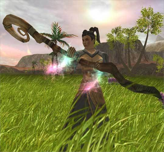 Asheron's Call This 1999 effort from Westwood developer Turbine Inc. was among the first massive multiplayer online games to hit the market, and served as a vanguard for titles like World of Warcraft. Turbine is also behind massive multiplayer games Dungeons & Dragons Online and The Lord of the Rings Online.