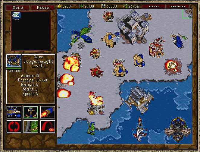 Warcraft II: Beyond the Dark Portal Cyberlore Studios of Northampton, an expansion pack specialist, developed this 1996 add-on for the popular Blizzard title Warcraft II. Cyberlore has since closed its doors.