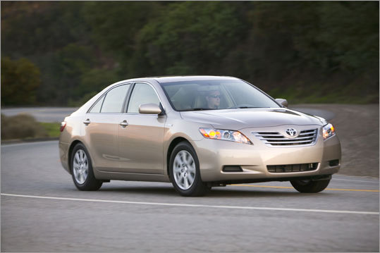3. Toyota Camry The 2007 Camry is also the seventh-most recovered car by model year.
