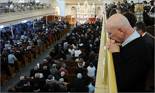 Mourners filled the church to remember Gengel.