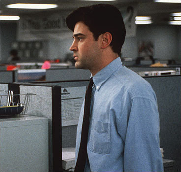 Spacing out In the 1999 film 'Office Space,' white-collar slacker Peter Gibbons describes multiple stretches in his day in which he simply checks out: 'I just stare at my desk, but it looks like I'm working.' Driscoll said employees who find themselves following in Gibbons's footsteps aren't being pushed hard enough by their work. 'You have to make sure you're challenging your employees if you want them to stay productive,' he said. Studies suggest employers are struggling to heed his advice: A 2006 Gallup poll found that more than 70 percent of employees are either not engaged (checked out) or actively disengaged (undermining productivity on purpose).