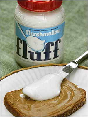Marshmallow Fluff Invented in Somerville in 1917, the spreadable marshmallow cream has been made by Durkee Mower Inc. of Lynn since 1920. Peanut butter and Fluff sandwiches have since become a Massachusetts specialty - to the point where a state legislator tried to limit Fluff servings in schools in 2006 because of nutrition concerns.