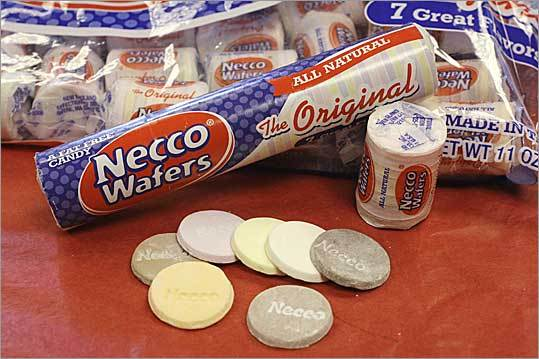 Necco Wafers These flavored wafers are the flagship product of the New England Confectionery Co., based in Revere. According to the company, Necco predecessors first sold the wafers all the way back in 1847.