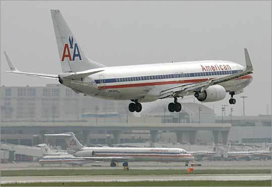 6. American Airlines Based in: Dallas-Forth Worth Flights into Logan in 2009: 11,975 Percent on time: 73.9 Average delay: 56 minutes