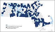 Interactive map and tax break data by community