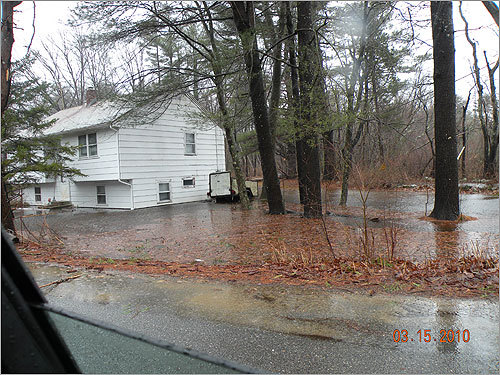 A house on Boxford Road in Rowley on Monday afternoon.