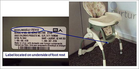 High chairs recalled due to fall hazard Recalled: March 18, 2010 Graco Children's Products Inc is recalling 1.2 million high chairs because the chairs pose a fall hazard. The company received 464 reports of parts of the chairs loosening, including 24 that resulted in injury. The chairs were sold at retailers including Walmart, Target and Sears, for between $70 and $120. Read more on this recall.