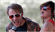 Deer Tick singer John J. McCauley III with Nikki Darlin from Those Darlins