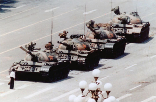 Tiananmen Square In 2006, The Wahington Post obtained a list of keywords used by a Chinese blog service to flag offensive content. The list included multiple references to 1989 clashes between Chinese protesters and government forces in Tiananmen Square in Beijing, in which hundreds of civilians are believed to have been killed. A number of related phrases also appeared on a list of banned terms reportedly leaked from Chinese search engine Baidu in 2009. Freelance journalist Jonathan Stray posted a translation of the list on his blog. Among the flagged terms: '1989,' 'Square incident' and 'the massacre of students.'
