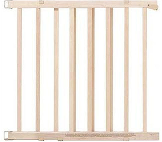 Wooden stair gate recalled due to fall hazard Recalled: March 25, 2010 Evenflo recalled about 150,000 wooden stair gates because the slats can break or detach, posing a fall hazard to children. The company received 142 reports of slats breaking or detaching, including 11 reports of injuries to children including bumps, bruises, scrapes, and scratches. The gates were sold at Toys 'R' Us, Kmart, and other retailers for about $40. Read more on this recall.