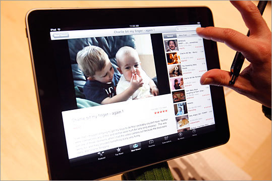It connects to the Web wirelessly Unlike most laptops, which in addition to WiFi cards have a hardwired 'ethernet' port to connect to the Internet with a wire, the iPad lacks such a port, relying solely on access to a WiFi signal (or cellular signal, for 3G-enabled models) to connect to the Web. All models also have Bluetooth capability built in.