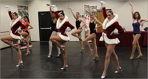 Wannabe Rockettes learned a routine from a current group of dancers in the troupe.