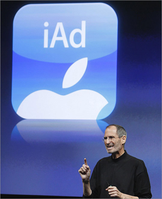 iAd mobile advertising Apple's iAd program will feature videos and interactive content on its mobile devices, offering advertisers what the company calls 'highly targeted information' about the viewing audience.