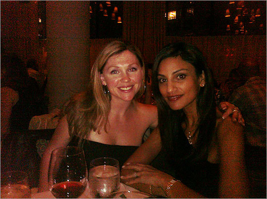 Party on, Boston Julie Gustafason and Ramita Tandon of Boston posed for a photo at Mistral.