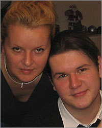 22-year-old Blazej Ignatowicz (right) and his mother, Barbara Green.