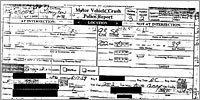 Police report on the crash
