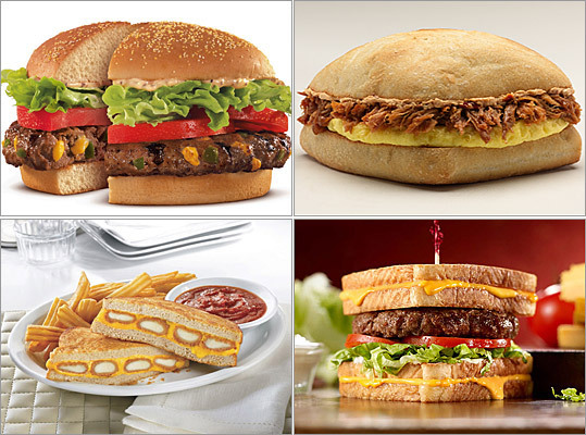 Restaurants seem to be pushing the envelope a bit lately, introducing new culinary concepts that test the limits of their menus. Here, take a look at some of the, shall we say, 'imaginative' fast food offerings over the years -- from sandwiches without bread to taco shells made from Doritos -- that aspired to go where no food product had gone before.