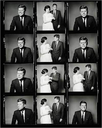 The Kennedys knew how to work a room. The Kennedys knew how to work a darkroom. They also knew how to work a dentist's office and barbershop. Or even a salon. Mr. Kenneth did Jackie's hair that day, and very nicely, too.