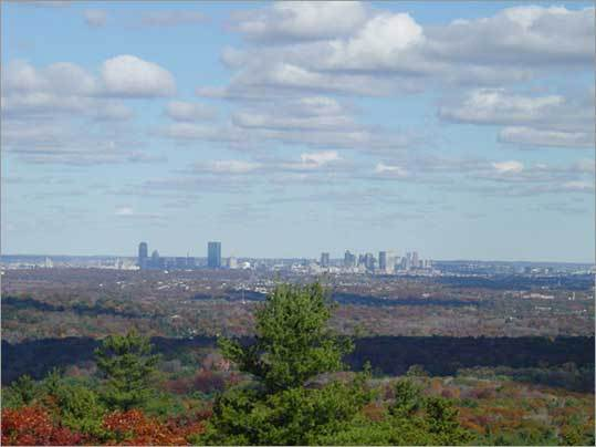 Leanne Thompson took this photo of the Boston skyline from the Blue Hills in 2002.