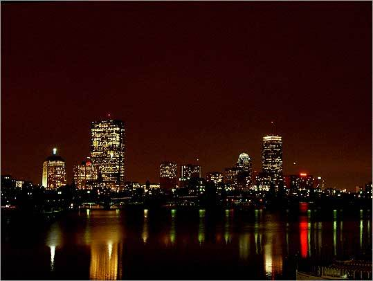 Jeremy Shea of Sandwich shot this photo of Boston from the Museum of Science garage in December 2006.