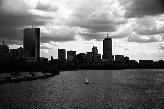 Michael Fiorentino of Somerville took this photo from the Boston side of the Longfellow Bridge in the afternoon on April 23, 2010. It was his first time using a polarizing filter, he said, so Fiorentino 'struggled to properly expose subjects so I gave in and focused on the sky.'