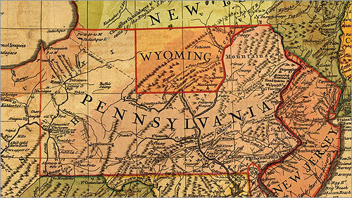 CONNECTICUT'S WYOMING In the Revolutionary era, Connecticut claimed a huge swath of land stretching all the way to the Pacific Ocean (after hopscotching New York and New Jersey). Connecticut land developers, being an enterprising group, began selling off the choice parcels of this real estate in an area known as the Wyoming Valley, in what's now the Wilkes-Barre area of Pennsylvania. Plans were in the works to coalesce these settlements into a new state. Pennsylvania wasn't too happy about all this, asserting that the Wyoming valley was actually in their state. The resulting conflict, called the Pennamite-Yankee War, went on for decades. Armed militia from Pennsylvania would periodically try to chase out the interlopers; shots would be exchanged and a few people were actually killed. After the American Revolution, Congress settled the matter in favor of Pennsylvania. After getting kicked out of Pennsylvania, Connecticut continued to claim ownership of the rest of its coast-to-coast swath, focusing on portions farther west in what is now Ohio. Eventually, it was forced to abandon Ohio too. One vestige: Case Western Reserve University in Cleveland, located in the former 'western reserve' of Connecticut.