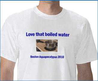 Adam Gaffin, who runs the local blog Universal Hub , designed a T-shirt to commemorate 'Boston Aquapocalypse 2010.'