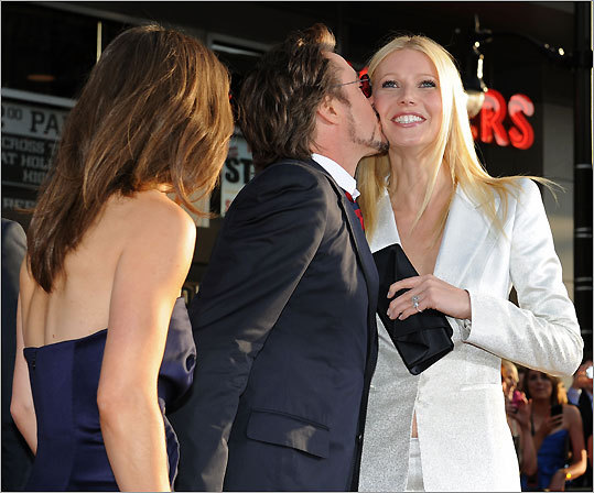 Susan Downey, Robert Downey Jr., and Gwyneth Paltrow
