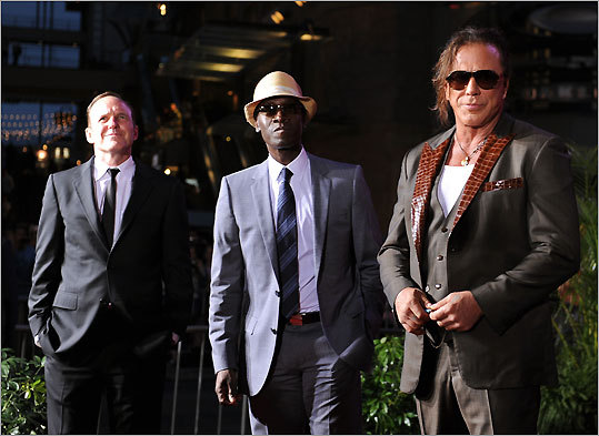 Clark Gregg, Don Cheadle, and Mickey Rourke