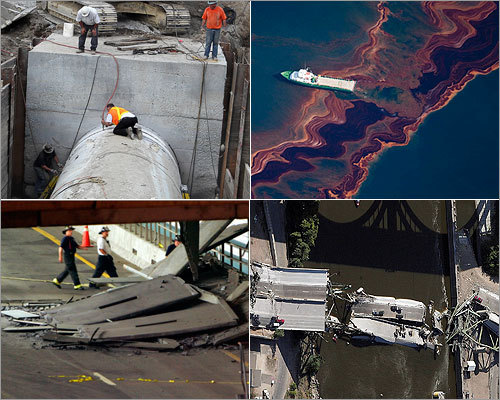 Several recent, large-scale failures, such as the water main break in Weston, problems with the Big Dig, and the Gulf oil spill have shaken public confidence in public works projects. Here's a look at a few such projects.