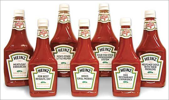 Heinz cuts sodium April 2010 H.J. Heinz Co. said it would reduce the sodium content of all its ketchup sold in the United States by 15 percent by May 1. The company had previously cut the salt in its Bagel Bite snacks by 20 percent. Heinz was one of 16 companies that pledged to cut salt in dozens of items as part of the National Salt Reduction Initiative, a voluntary effort, spearheaded by New York City that aims to reduce American sodium consumption by 20 percent.