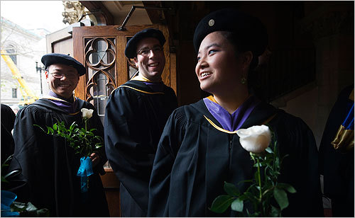 Boston Architectural College graduates entered Old South Church during their commencement May 29.