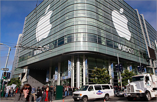 The Moscone Center in San Francisco is the host site for the 2010 Apple Worldwide Developers Conference.