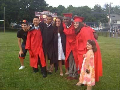 Seniors graduating at Watertown High School.