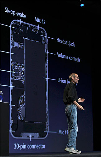A bigger battery The new iPhone features a bigger battery and an Apple A4 processor - the same type of power-saving chip used in the iPad. Jobs said the new phone is good for seven hours of talk time, six hours of 3G browsing, 10 hours of WiFi browsing, 10 hours of video, or 40 hours of music. The iPhone 3GS is rated for five hours of talk, five hours of 3G browsing, or 30 hours of music.