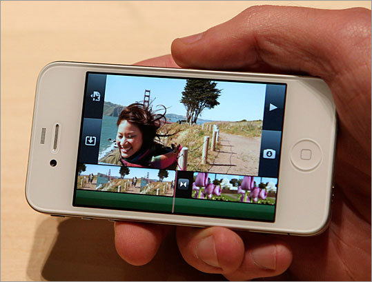 iMovie The phone can also edit video, thanks to a mobile version of iMovie. The app looks much like the desktop version of the program. The software is priced at $4.99.