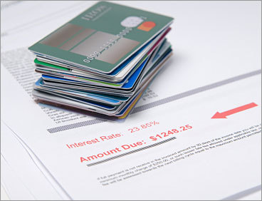 Pay down the highest interest rate first The key is to always minimize the amount you pay in interest – because paying interest is like burning cash. The quicker you pay off the principal on your credit card that carry the highest interest rate, the quicker you'll be debt-free.