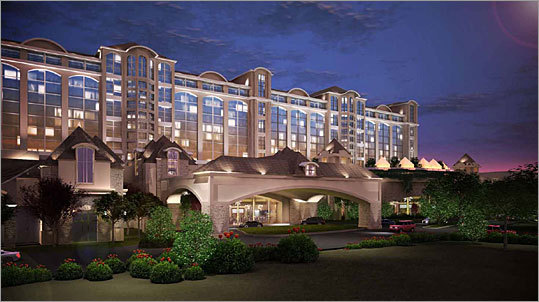This rendering shows the phase 2 plan for the front of the casino.