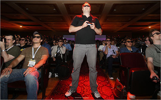 As it was at last year's Consumer Electronics Show in Las Vegas where electronics manufacturers showed off their 3D TVs, video game companies have followed in their footsteps. Sony announced this week that 20 3-D games would be released for its PlayStation 3 console by March 2011.