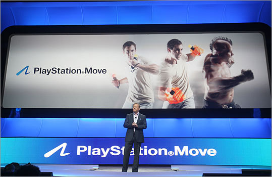 Sony also unveiled its entrant into the world of motion-controlled game with the PlayStation Move. The lollipop-shaped controller will be available Sept. 19 in the US for $49.99, and the Move's navigation controller will be sold separately for $29.99. Sony will also sell bundles of the controller, camera and the new action sports title 'Sports Champions' for $99.99. The controller, camera, console and 'Sports Champions' would cost $399.99.