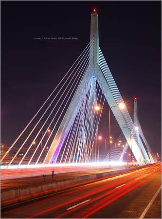 Using a long exposure on his Nikon camera, Timothy Luc captured the lights on the Zakim Bridge.