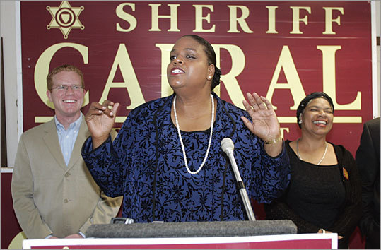 Andrea J. Cabral First female and first person of color to serve as Suffolk County sheriff Appointed by Governor Jane Swift in 2002, Cabral trounced City Councilor Stephen Murphy with 60 percent of the vote in her first full-term election in 2004. As sheriff, she oversees the cases of more than 2,700 offenders daily. Cabral served as president of the Massachusetts Sheriffs' Association in 2008-09.