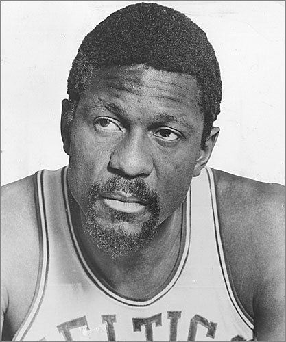 Bill Russell First black coach in a major professional sports league, Boston Celtics In the 13 seasons 6-foot, 9-inch Russell played center for the Celtics, the team brought a championship banner to the Boston Garden 11 times, the final two as player-coach. Russell had revolutionized the team's defensive strategy, focusing on assists and rebounds instead of simply scoring. When legendary coach Red Auerbach retired in 1966, Russell became the first African-American coach in a top professional sports league. He coached the Celtics for three years.