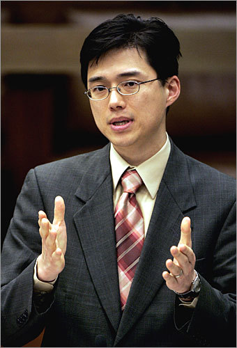 Sam Yoon First Asian-American city councilor in Boston Korean-born Yoon, who came to the United States with his family when he was 10 months old, graduated from Princeton University and worked as a public school teacher before he decided to go into politics. He was served two terms as an at-large city councilor after being elected in 2006, and shared a mayoral ticket with fellow councilor Michael Flaherty in 2009. The two lost to long-time incumbent Thomas M. Menino, but the race was the closest Menino had ever faced.