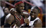 LeBron James (left) and Dwayne Wade