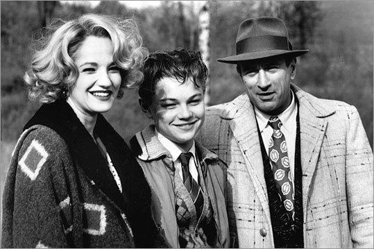 Ellen Barkin, Leonardo DiCaprio and Robert De Niro in 'This Boy's Life'
